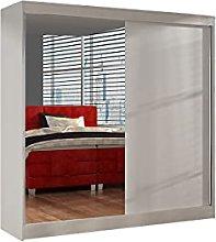 Modern Wardrobe Bedroom Mirror 2 Sliding Door