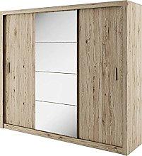 Modern Wardrobe Sliding Door with Mirror IDEA 01