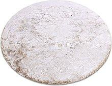 Modern washing carpet LAPIN circle shaggy,