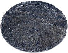Modern washing carpet LAPIN circle shaggy