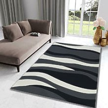 Modern Wave Pattern Carpet Floor Rugs Small Extra