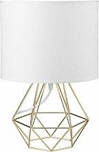 Modern White Gold Desk Table Lamps for Living Room