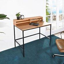 Modern Wood Storage Computer Desk Williston Forge