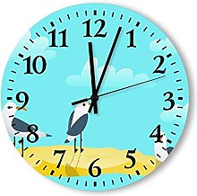 Modern Wood Wall Clock Silent Non Ticking 12 Inch,