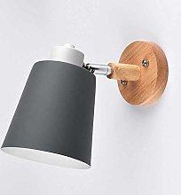 Modern Wood Wall Lamp Indoor Lighting Bedside LED