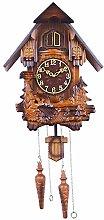 Modern Wooden Cuckoo Birdhouse Clock Wall Clock,