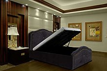 Modernique® Black Silver Velvet Ottoman Storage