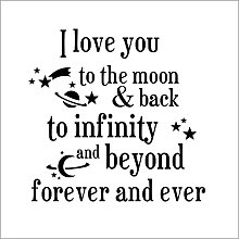 Modish I Love You Back to The Moon Quote Home