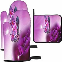 MODORSAN Beautiful Purple Butterfly Rose Oven