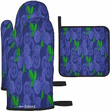 MODORSAN Blueberry Pattern Design Oven Mitts and