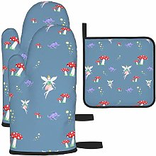 MODORSAN Fairy and Mushroom Oven Mitts and Pot