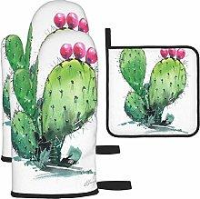 MODORSAN Flat Head Cactus Oven Mitts and Pot