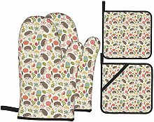 MODORSAN Gold Marble Oven Mitts and Pot Holders