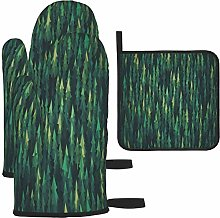 MODORSAN Green Forest Oven Mitts and Pot Holders