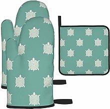 MODORSAN Green Turtle Oven Mitts and Pot Holders