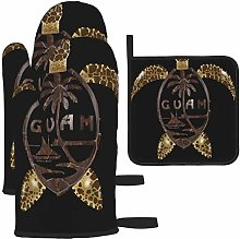 MODORSAN Guam Turtle Oven Mitts and Pot Holders