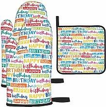 MODORSAN Happy Birthday Oven Mitts and Pot Holders