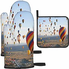 MODORSAN Hot Air Balloon Pattern Oven Mitts and