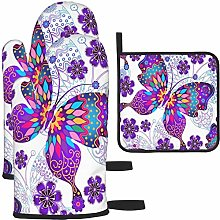 MODORSAN Purple Wings Colorful Butterfly Oven