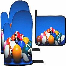 MODORSAN Triangle Billiards Oven Mitts and Pot
