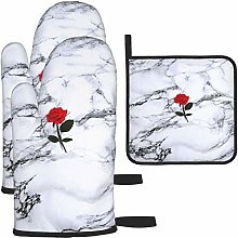 MODORSAN Tumblr Flower White Mable Oven Mitts and