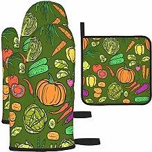 MODORSAN Vegetables Seamless Pattern Oven Mitts