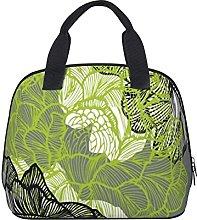 Modren Chic Floral Green Grey Pattern Waterproof