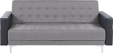 Modular 3 Seater Sofa Bed Reclining Tufted Grey