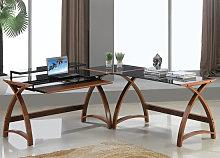 Modular Curve Corner Computer Desk In Walnut