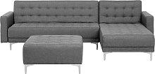 Modular Left Hand L-Shaped Corner Sofa Bed Ottoman