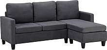 Modular sofa indoor L-shaped gray simple style