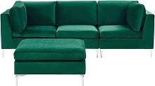 Modular Sofa Velvet 3 Seater Sectional with