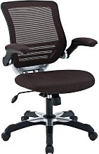 Modway Edge Back Seat Office Chair, Brown Mesh, 66