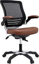 Modway Edge Mesh Back and Tan Vinyl Seat Office