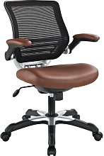 Modway Edge Mesh Back and White Vinyl Seat Office