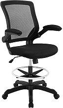 Modway Reception Desk Chair, Black, 66 x 66 x 107
