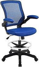Modway Reception Desk Chair, Blue, 66 x 66 x 107 cm