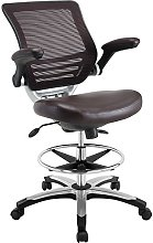Modway Reception Desk Chair, Brown, 70 x 70 x 105
