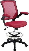 Modway Reception Desk Chair, Red, 66 x 66 x 107 cm