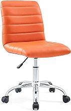 Modway Stool, Chrome, Orange, 58 x 58 x 84 cm
