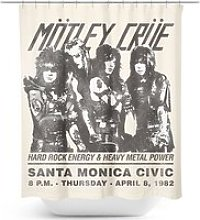 Mötley Crüe Santa Monica Shower Curtain