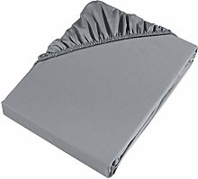 Möve Fitted Sheet, Grey, 160 x 200 x 30 cm