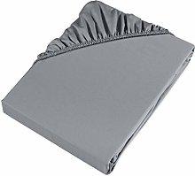 Möve Fitted Sheet, Grey, 200 x 200 x 30 cm