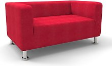 Moffitt Loveseat Mercury Row Upholstery: Red