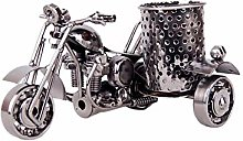 MoGist Home Decor Metal Pencil Case Motorcycle