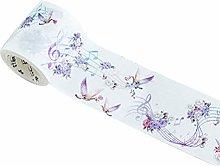 MoGist Washi Tape Beautiful Purple Flowers Musical