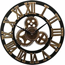 Mogzank 16 inch Big Size Rustic Wall Clock with