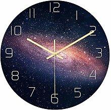 Mogzank Galaxy Acrylic Silent Wall Clock Bedroom