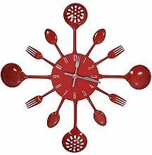 Mogzank Housewares Cutlery Wall Clock - Red
