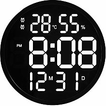 Mogzank LED Wall Clock Luminous Large Clock Mute